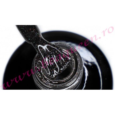 Oja Semipermanenta Be a Queen Black Amazing Glitter 15ml