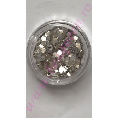 Confetti Mirror Efect- Silver