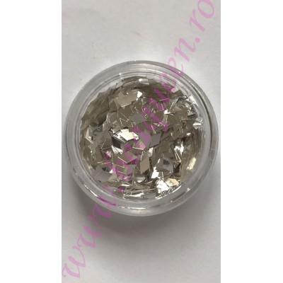 Confetti Mirror Efect- Silver 13